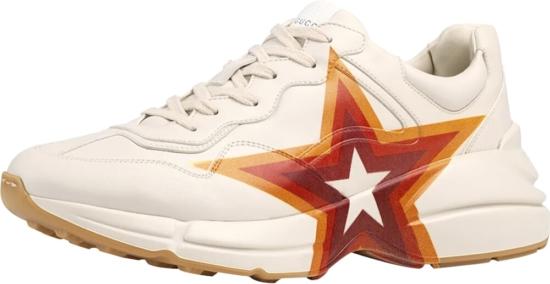 Gucci Gg Star Print Rhyton Sneakers
