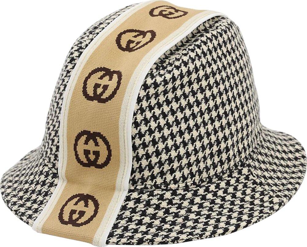 Gucci Gg Stripe Houndstooth Fedora