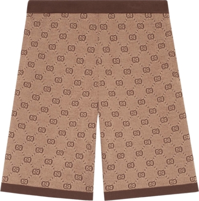 Gucci Gg Supreme Brown Shorts