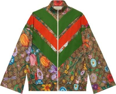 Gucci Gg Supreme Floral Track Jacket