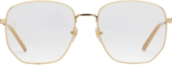 Gucci Gold Tone Matal Rectuangular Glasses