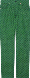 Gucci Green And Navy Gg Canvas Pants 623953zku093344