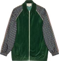 Gucci Green Bi Material Track Jacket