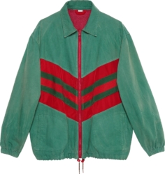 Striped Chevron Green Jacket