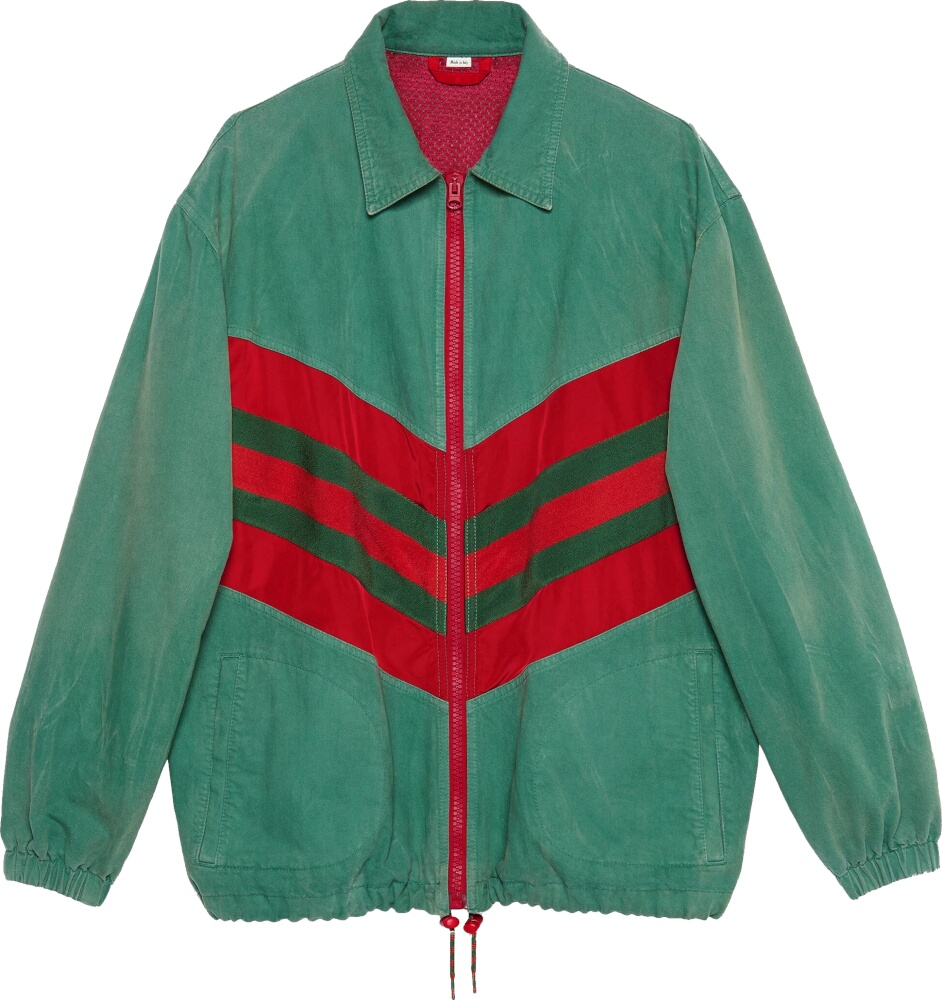 Chevron Web Green Jacket