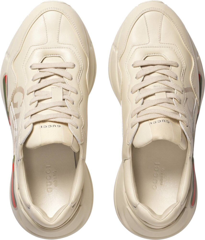 Gucci Green Red Stripe Rhyton Sneakers