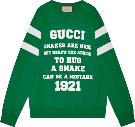 Gucci Green To Hug A Snake Sweatshirt