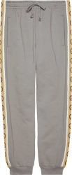 Gucci Grey And Beige Gg Stripe Sweatpants 630713 Xjbuw 1233