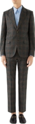 Gucci Grey Check Wool Suit