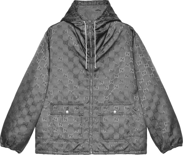 Gucci Grey Off The Grid Hooded Jacket 657792zaebn1126