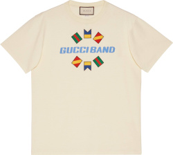 Band Embroidered White T-Shirt