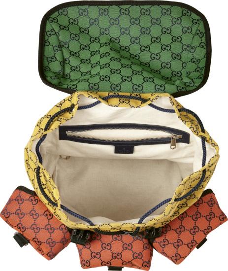 Gucci Gucci Rainbow Canvas Supreme Backpack