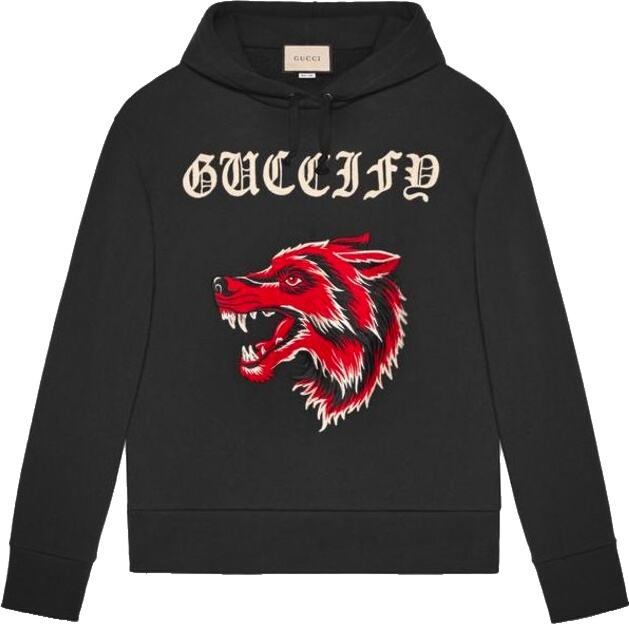 Gucci Guccify Black Wolf Hoodie