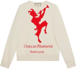 Gucci Ivory Chateau Marmont Printed Hoodie
