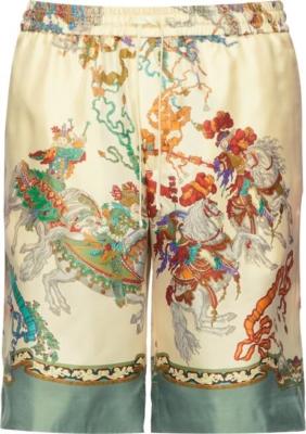 Gucci Jousting Print Ivroy Short