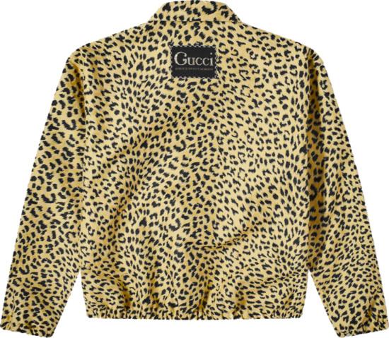 Gucci Leopard Print Shirt Jacket