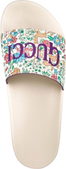 Gucci Liberty Floral Slides
