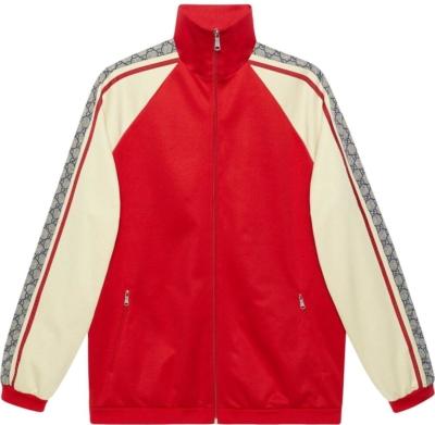Gucci Logo Motif Stripe Red Track Jacket