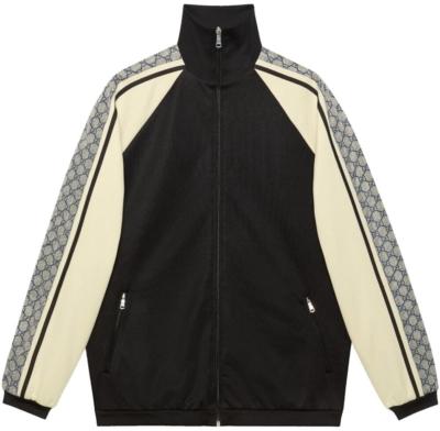 Gucci Logo Motif Stripe Track Jacket