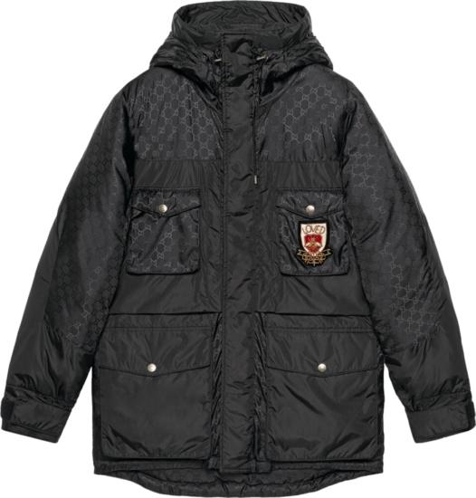 Gucci Loved Patch Black Nylon Jacket