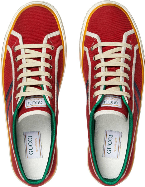 Gucci Low Top Red Tennis 1977 Sneakers