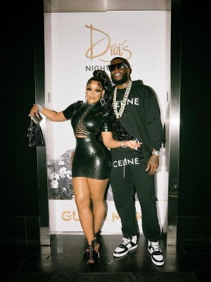 Gucci Mane At Drais In Las Vegas Wearing A Celine Logo Hoodie And Sweatpants And Ct 02 Sneakers