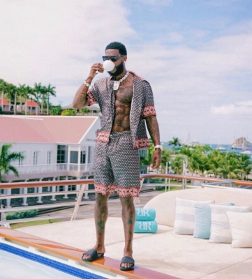 Gucci Mane Celebrated Nye In St Maarten In D And G Fit