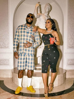 Gucci Mane Wearing A Gucci X Fretz Hartas Check Shirt And Shorts With Low Top Yellow Sneakers