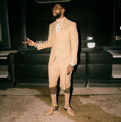 Gucci Mane Wearing An All Gucci 'gg' Supreme Fit