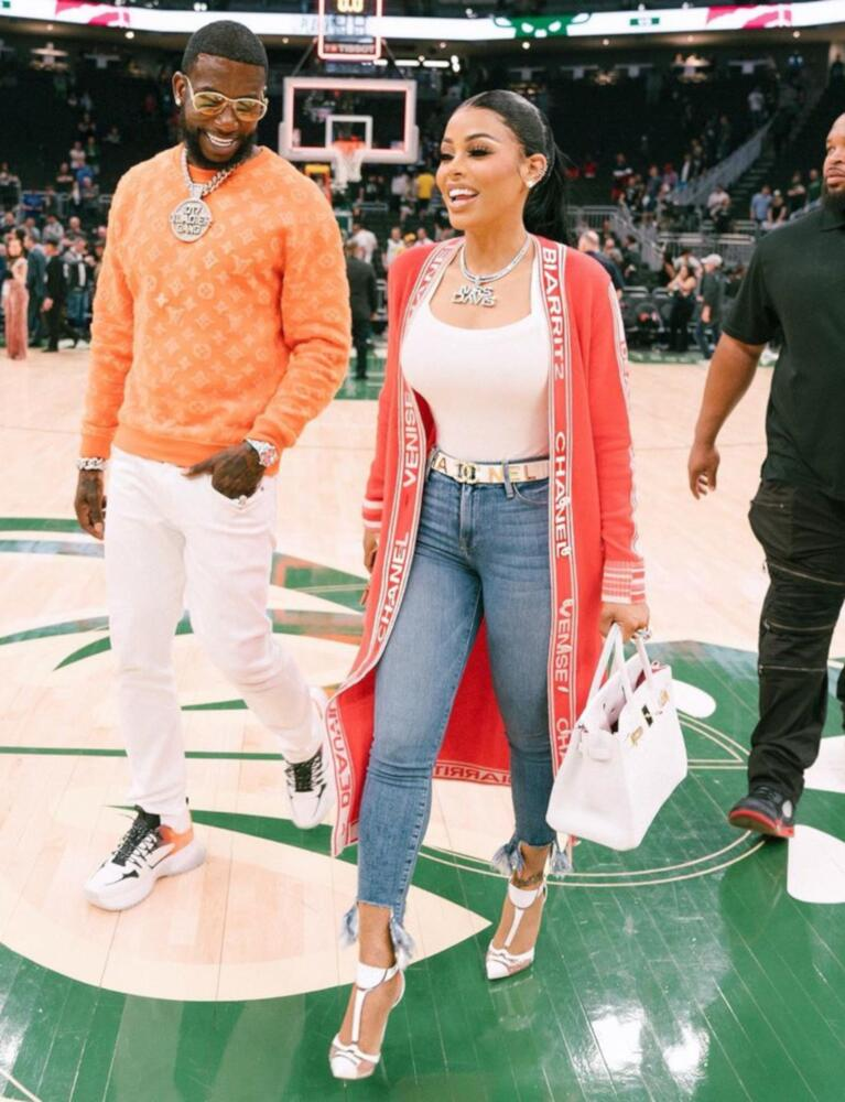 Gucci Mane Wearing Louis Vuitton With His Wife For The Nba Easter Conference Finals