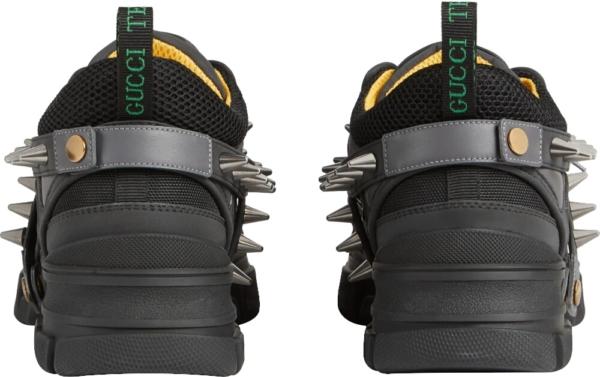 Gucci Men Black Flashtrek Sneakers