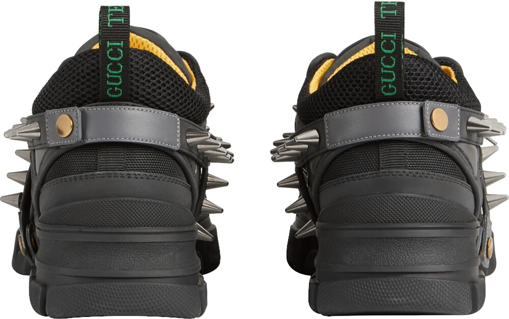 Gucci Men Black Flashtrek Sneakers