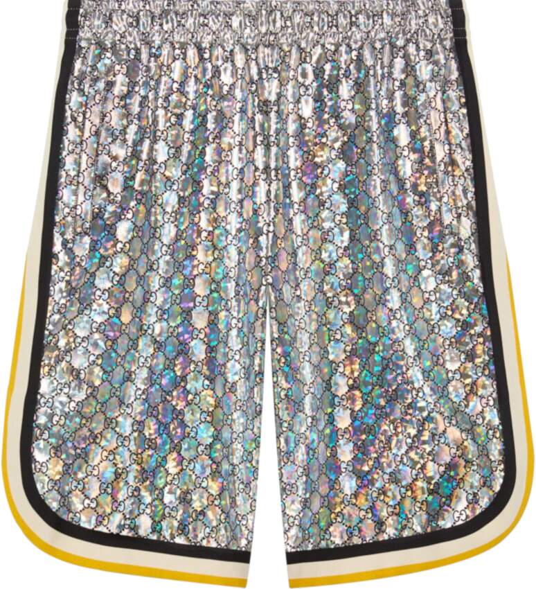 Gucci Metallic Laminated Shorts