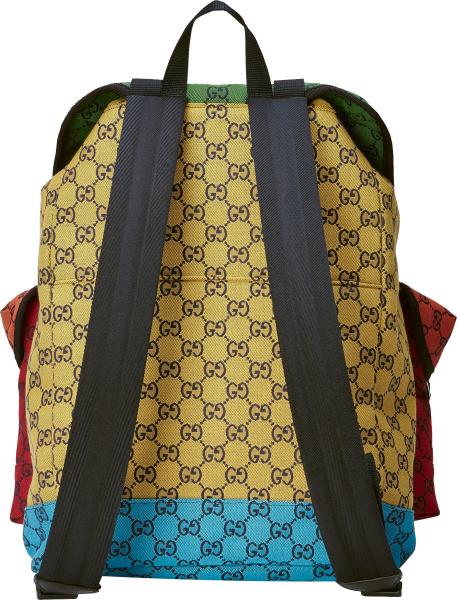 Gucci Multicolor Gg Canvas Backpack