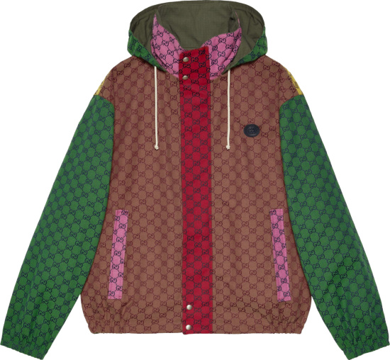 Gucci Multicolor Gg Canvas Hooded Jacket