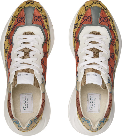 Gucci Multicolor Gg Canvas Rhyton Sneakers