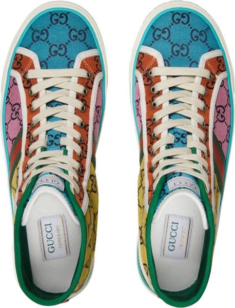 Gucci Multicolor Gg Canvas Sneakers