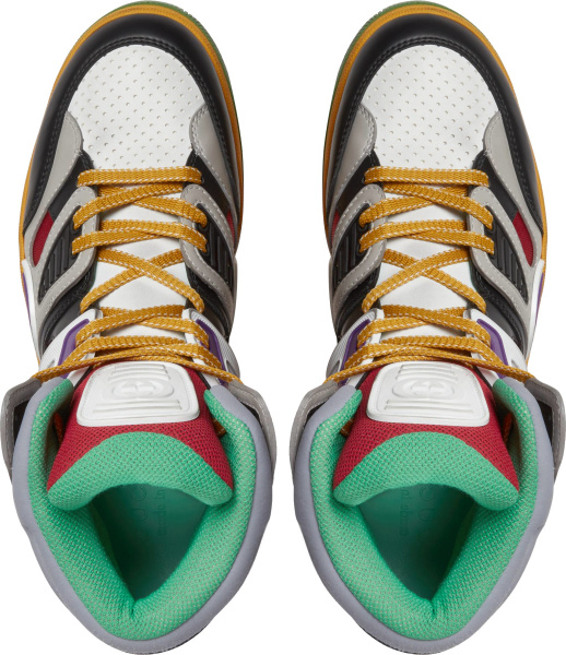 Gucci Multicolor Layered High Top Sneakers