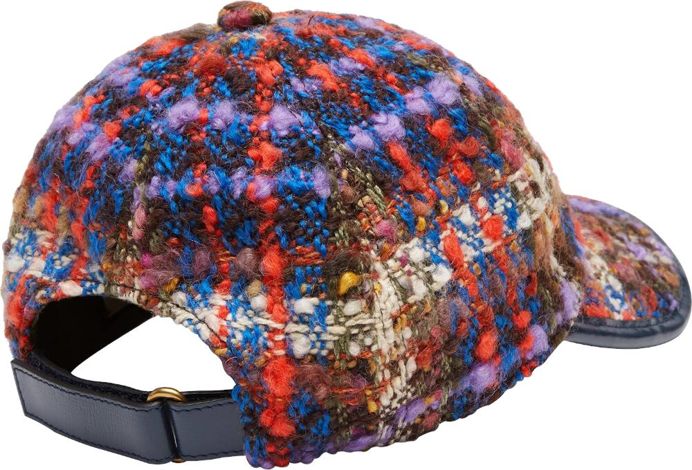 Gucci Multicolor Tweed Baseball Cap