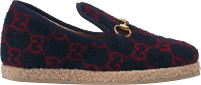 Gucci Navy Fria Loafers