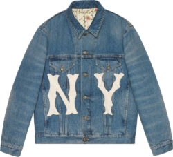 NY Yankees Patch Denim Jacket