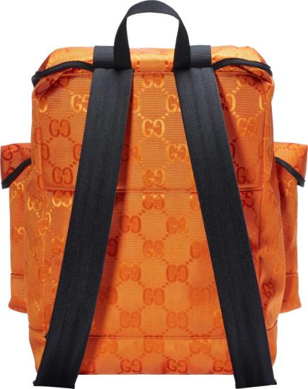Gucci Orange Canvas Supreme Backpack