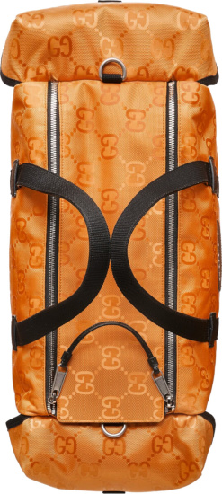 Gucci Orange Recycled Canvas Duffle Bag