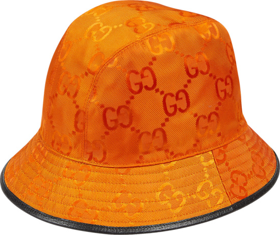 Gucci Orange Recycled Polyester Fedora