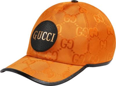 Gucci Orange Supreme Canvas Baseball Cap