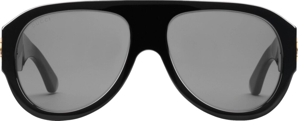 Gucci Oversized Black Aviator Sunglasses