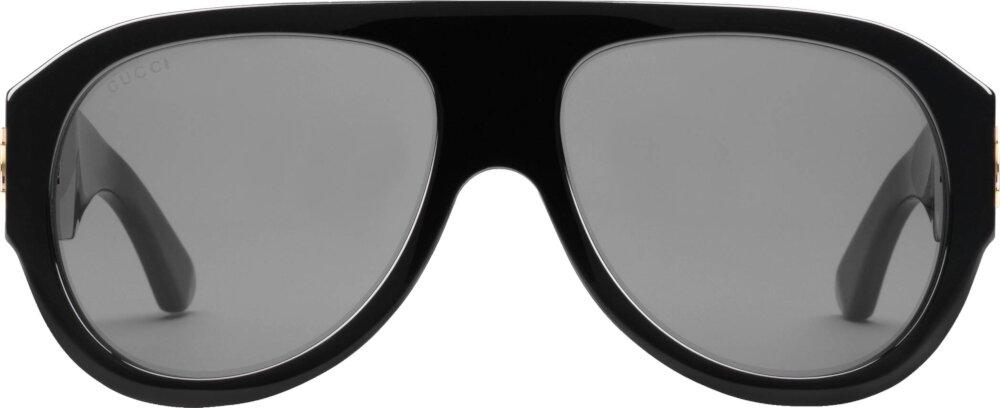 Black Aviator Sunglasses (GG0668S)