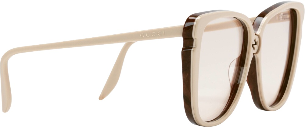 Ivory Oversized Square Sunglasses