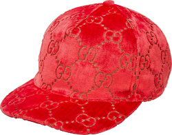 Gucci Pink And Gold Gg Velvet Hat