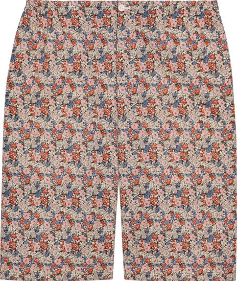 Gucci Pink Liberty Floral Shorts